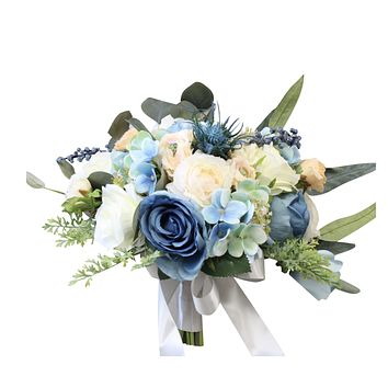Boho Rustic Bouquet-Dusty Blue Peach