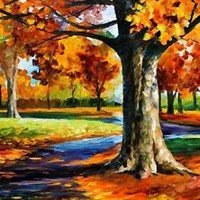 """BRISTOL FALL —  Oil Painting On Canvas By Leonid Afremov - Size: 40""""x30"""""""