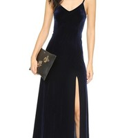Long Velvet Slip Dress