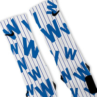 Cubs Flying W Flag Custom Nike Elite Socks