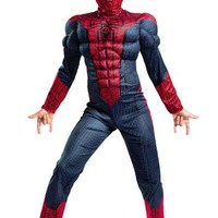 The Amazing Spider-man Movie Muscle Light Up Costume, Red/Blue, Small