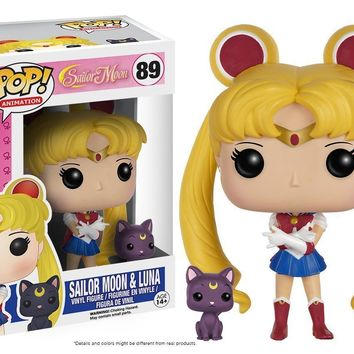 Sailor Moon & Luna, Sailor Moon Pop! Anime Vinyl Figure #89