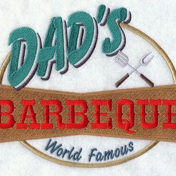 Dad's World Famous BBQ Apron Father's Day Gift, Birthday Gift, Host Gift