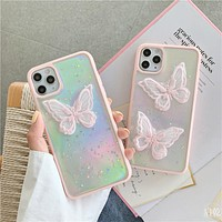 Trendy lace butterfly iphoneX case protective cover