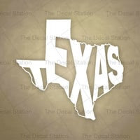Texas Vinyl Decal Sticker for Car Truck Auto. Word Art . US State Pride.