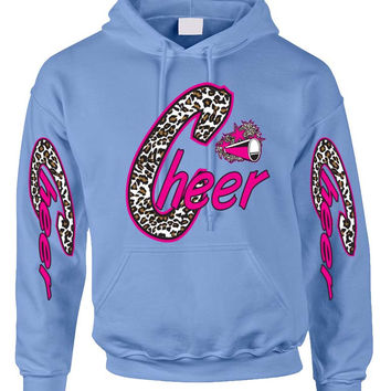 Cheer White Leopard women's Hoodies