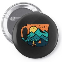 coffee and adventure Pin-back button