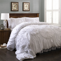 Lush Decor Serena 3 Piece Comforter Set