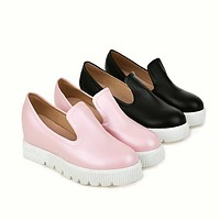 Round Toe Platform Shoes for Woman MF9619