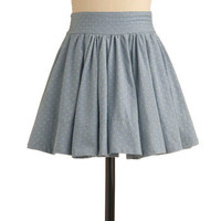 Denim Going Dotty Skirt | Mod Retro Vintage Skirts | ModCloth.com