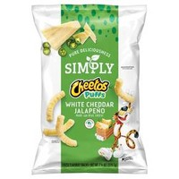Cheetos Simply White Cheddar Jalapeno Cheese Flavored Snack - 7.75oz