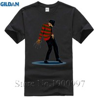 FREDDY CAN DANCE Michael Jackson Funny Design Mens T Shirt Short Sleeve Tops O-neck Tee Men Cool Hipster Tops Tee Shirts