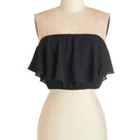 ModCloth Short Tube Cropped Sway What You Think Top