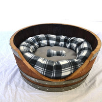 Wine Barrel Pet Bed - Dog and Cat ready- 100% recycled Napa barrel