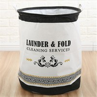 Cleaning Service Foldable Cloth Laundry Hamper Toy Storage Basket