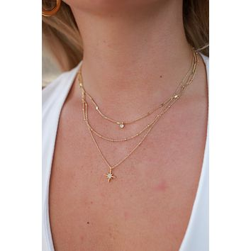 Always The Star Necklace - Gold