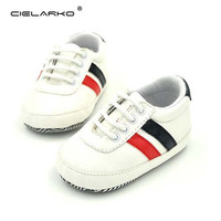 Cielarko Classic Baby Shoes 5-color Leather Kids Crib Shoes Newborn Baby Sneakers for Toddler girls boys Sport Walking shoes 013