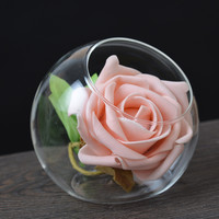 1PC New Fashion Design Crystal Clear Glass Flower Vases Pot Hydroponic Plant Terrarium Container Home Wedding Decor JY 1186