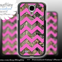 Camo Pink Chevron Galaxy S4 case S5 Real Tree Camo Deer Personalized RealTree Samsung Galaxy S3 Case Note 2 3 Cover