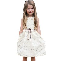 Toddler Baby Girls Sleeveless Cute Princess Party Pageant Dress