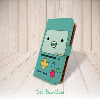 Beemo Adventure Time flip pu leather cover case for iPhone 6 6 plus 5 5S 5C 4 4S leather case, moto X, galaxy S3 S5 S4 Note 4 Note 3 (R24)