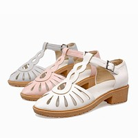 Summer Sandals Pumps Low-heeled Shoes Woman