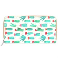 Cactus Print Pattern Clutch Wallet