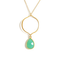 Arabesque Gold Necklace with Gemstone Accents