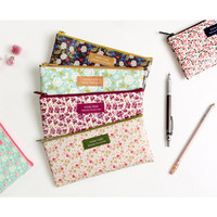 Wanna This Pour vous flower melody zipper pencil pouch