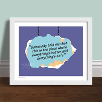 """Somebody Told Me - One Tree Hill Quote 8"""" x 10"""" Art Print Poster"""