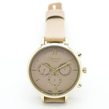Classic color strap watch