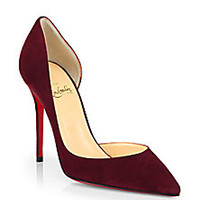 Christian Louboutin - Iriza 100 Suede D'Orsay Pumps - Saks Fifth Avenue Mobile