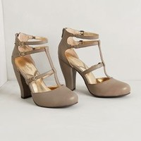 Sabine Cage Pumps by Seychelles Taupe 9 Heels