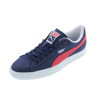 Puma Mens Basket Classic Canvas Leather Trim Athletic Shoes