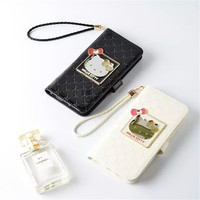 luxury lovely hello Kitty cat Wallet Leather case for iphone 6/6s/iphone 6 plus/iphone 6s plus/iphone 7/iphone 7 plus with Stand