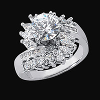 3 carat diamonds floral style engagement ring lady men jewelry gold