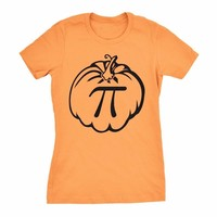 Women's Pumpkin Pi T Shirt Math Shirt Pie Thanksgiving Tee for Women Halloween holiday gift funny graphic women fashion art tops