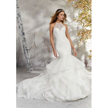 Blu by Morilee 5687 Laney Tulle and Organza Mermaid Wedding Dress