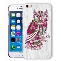 ChiChiC Iphone case, i phone 6 case, iphone6 case,iphone 6 case,iphone 6 4.7 cases, plastic cases back cover skin protector,wood grain, floral pink owl