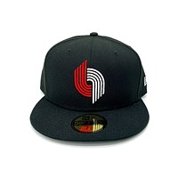 New Era 59FIFTY Portland Trailblazers Classic Night Fitted Hat Black