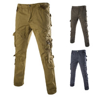 Mens Casual Cargo Style Pants