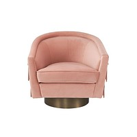 Pink Velvet Swivel Chair | Eichholtz Le Vante
