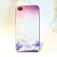 Sky Cloud Sunlight abstract Hard Cover Case For Iphone 4/4s