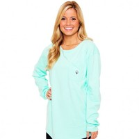 Kimmy Boatneck Long Sleeve Tee in Tidal Green by The Southern Shirt Co.