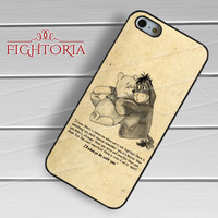 Winnie The Pooh Eeyore Quotes Vintage - zzZzz for  iPhone 4/4S/5/5S/5C/6/6+s,Samsung S3/S4/S5/S6 Regular/S6 Edge,Samsung Note 3/4