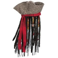 Captain Jack Sparrow Pirates of the Caribbean Hat with Hair for Boys   Costume Accessories   Disney Store
