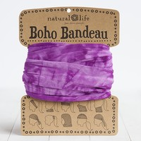 Purple  &  White  Tie-Dye  Boho  Bandeau  From  Natural  Life