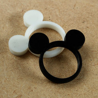 Mouse Ring - 3D Printed Unique Animal Ears Jewelry - 14 colours available