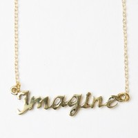 GOLD IMAGINE NECKLACE