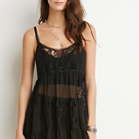 Lacy Crepe Tiered Dress